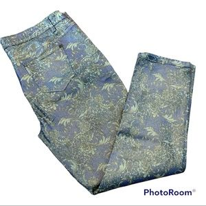 Gold and Lavender Purple Shiny Jeans size 19/20